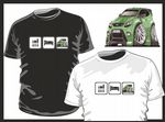 KOOLART EAT SLEEP Design for Green Ford Focus RS mens or ladyfit t-shirt